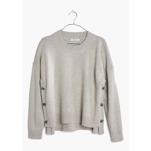 MADEWELL / side-button brownstone sweater